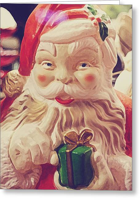 Toy Store Photographs Greeting Cards - Santa Whispers Greeting Card by Toni Hopper