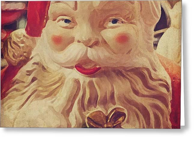 Santa Whispers vintage Greeting Card by Toni Hopper