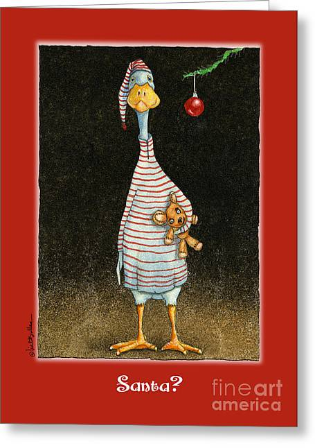Indian Runner Duck Greeting Cards - Santa? Greeting Card by Will Bullas