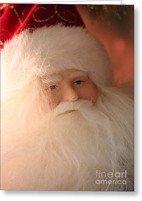 Rembrandt Lighting Greeting Cards - Santa with Rembrandt Lighting Greeting Card by Robert Yaeger