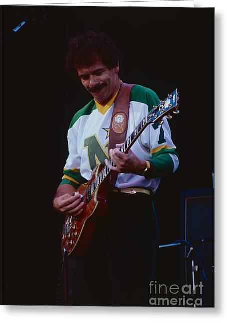 80s Greeting Cards - Santana at The Berkeley Greek Theater Greeting Card by Daniel Larsen