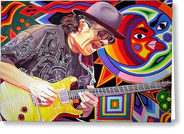Santana Mystic Vision Greeting Card by Joshua Morton