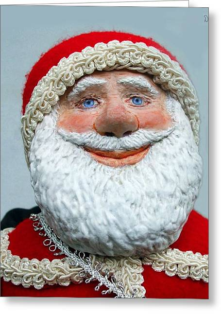Loving Sculptures Greeting Cards - Santas Big Day Greeting Card by David Wiles