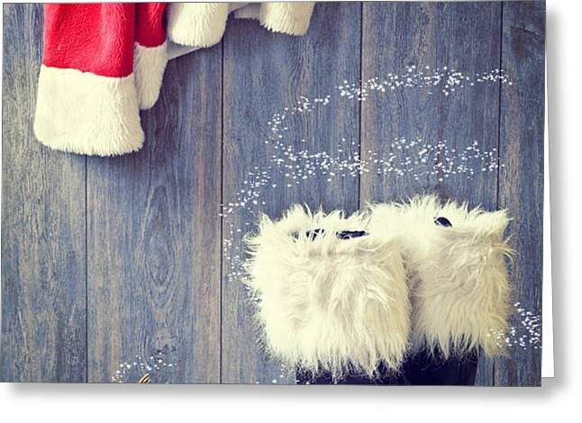 Santa's Boots Greeting Card by Amanda And Christopher Elwell