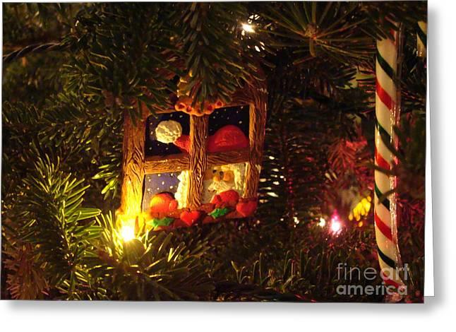 Santa's Coming To Town Greeting Card by Andrea Kollo