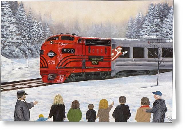 Kevin F Heuman Greeting Cards - Santas Miracles Greeting Card by Kevin F Heuman