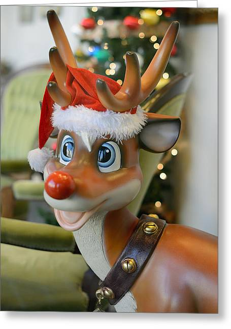 Rudolph Greeting Cards - Santas Ninth Reindeer Greeting Card by Vic Harris