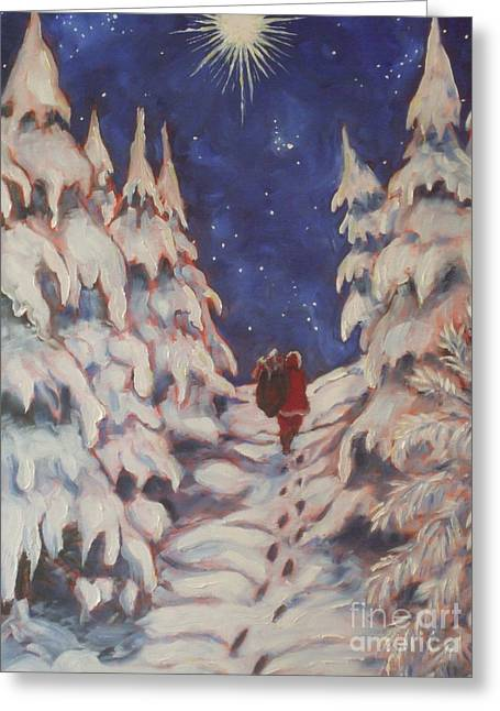 Paris Wyatt Llanso Greeting Cards - Santas Trek Greeting Card by Paris Wyatt Llanso