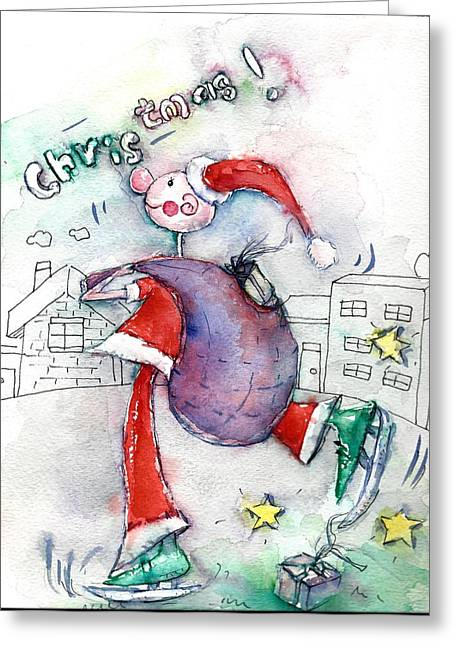 Santa's Understudy Greeting Card by Mikyong Rodgers
