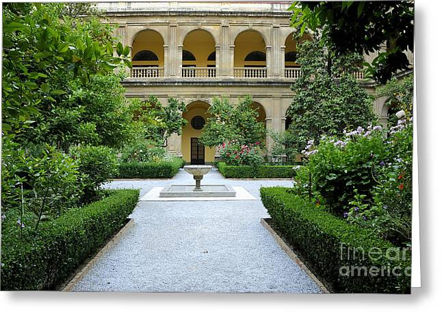 Domingo Greeting Cards - Santo Domingo courtyard Greeting Card by Guido Montanes Castillo