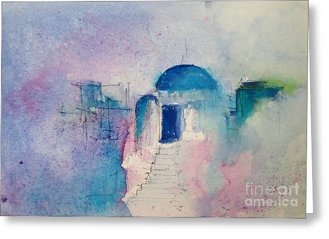 Santorini Greeting Card by Gianni Raineri