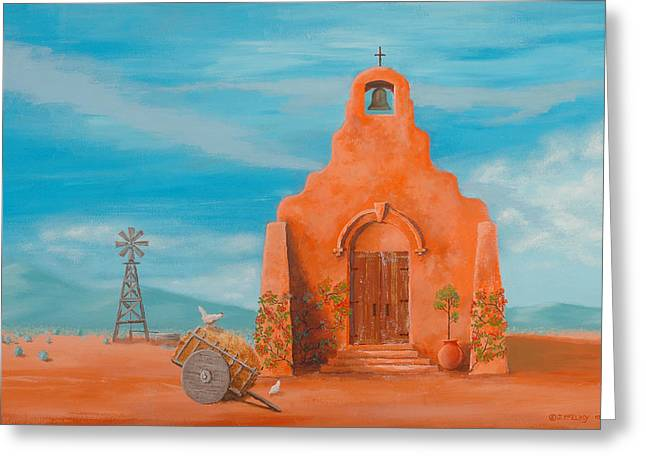 Adobe Greeting Cards - Santuario Greeting Card by Jerry McElroy