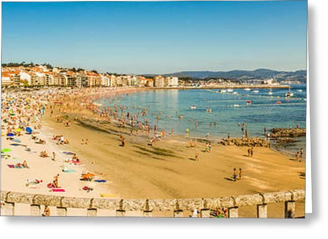 Panoramic Ocean Greeting Cards - Sanxenxo Galicia Greeting Card by Ernesto Santos