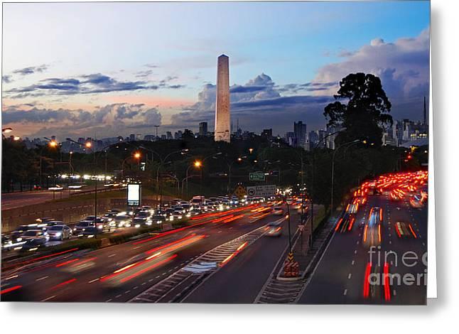 Sao Greeting Cards - Sao Paulo skyline - Ibirapuera Greeting Card by Carlos Alkmin
