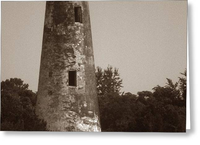 SAPELO ISLAND LIGHTHOUSE Greeting Card by Skip Willits
