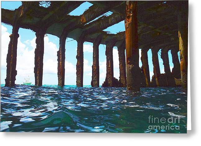Ship-wreck Greeting Cards - Sapona Bimini Greeting Card by Carey Chen