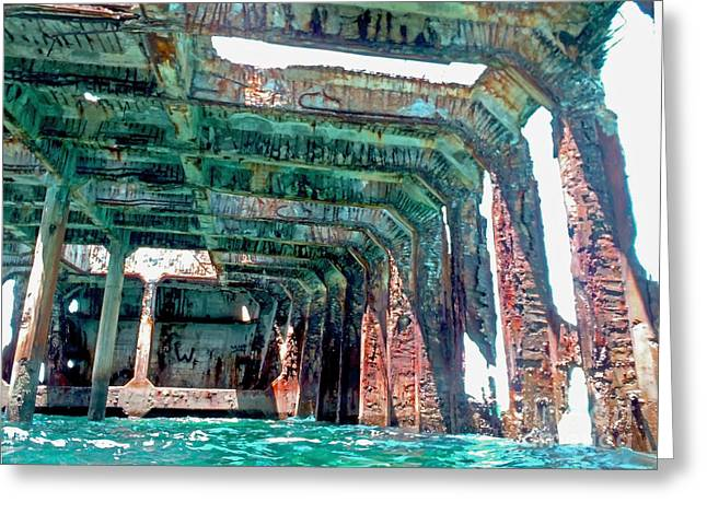 Sand Bar Greeting Cards - Sapona wreck Greeting Card by Carey Chen