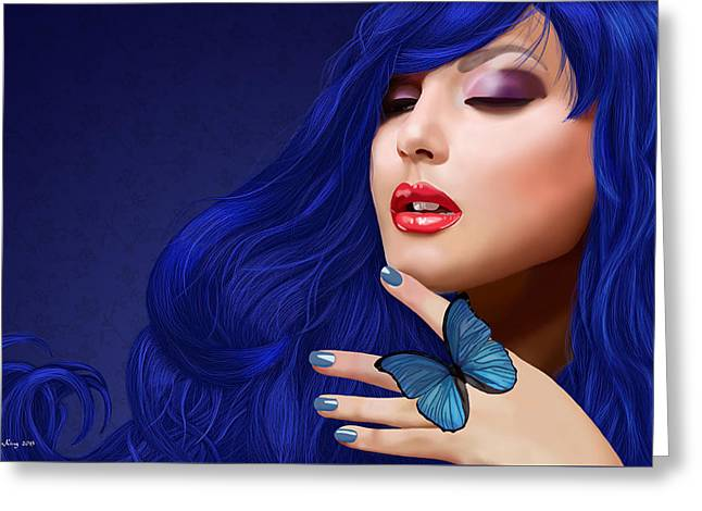 Recently Sold -  - Morph Greeting Cards - Sapphire Greeting Card by Melissa King