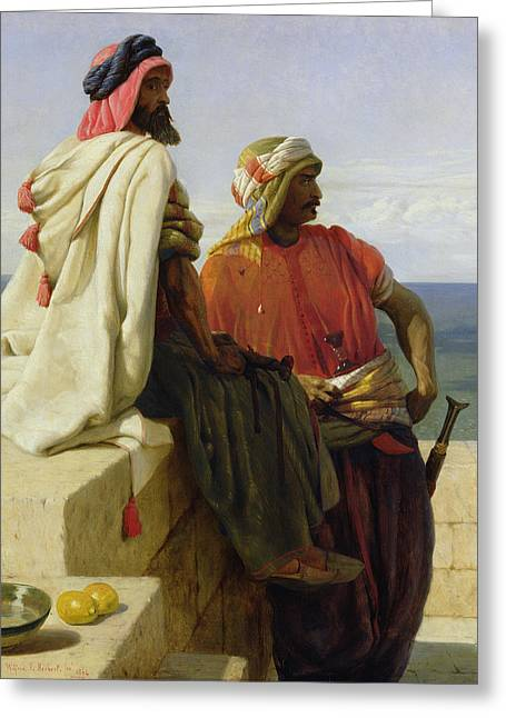 Ease Greeting Cards - Saracens in front of their Position Greeting Card by Wilfred Vincent Herbert