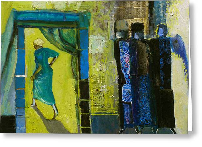Hebrews Greeting Cards - Sarah and the Three Angels Greeting Card by Richard Mcbee