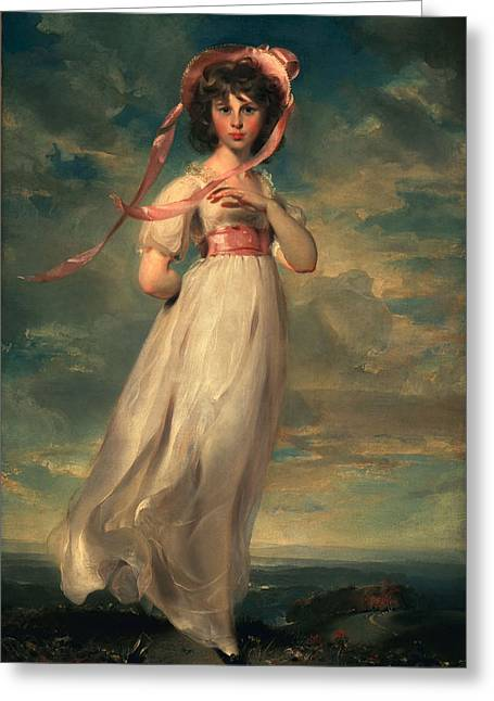 Billowing Greeting Cards - Sarah Goodwin Barrett Moulton Pinie 1794 Greeting Card by Thomas Lawrence