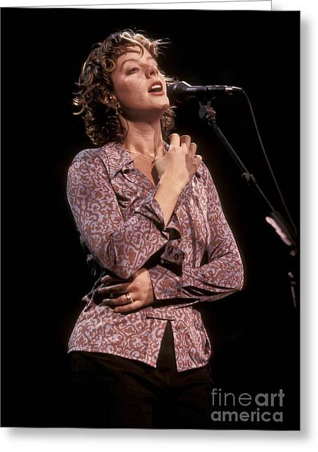 Mclachlan Greeting Cards - Sarah McLachlan Greeting Card by Front Row  Photographs