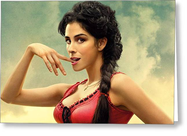 Sarah Silverman A Million Ways To Die In The West  Greeting Card by Movie Poster Prints
