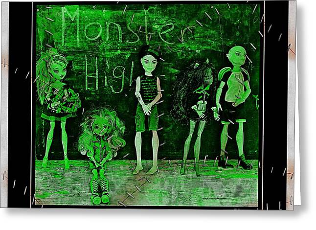 Stein Greeting Cards - Sarahs Monster High Collection Frankenstein Effect Greeting Card by Barbara Griffin