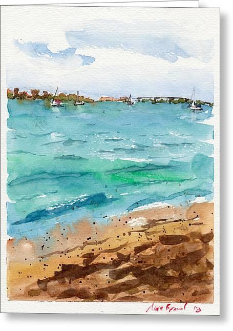 Sarasota Florida Greeting Cards - Sarasota Beach Greeting Card by Max Good