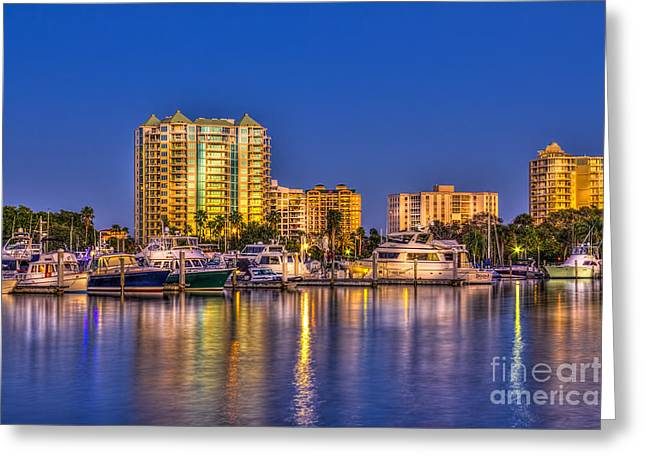 Sarasota Florida Greeting Cards - Sarasota Skyline Greeting Card by Marvin Spates