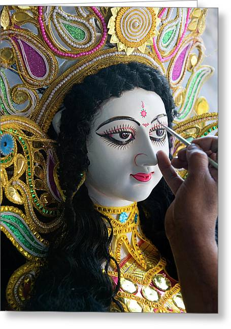 Sarasvati (female Hindu God Greeting Card by Peter Adams
