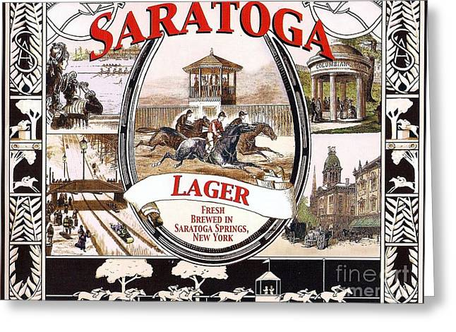 Saloons Drawings Greeting Cards - Saratoga - Lager Greeting Card by Pg Reproductions
