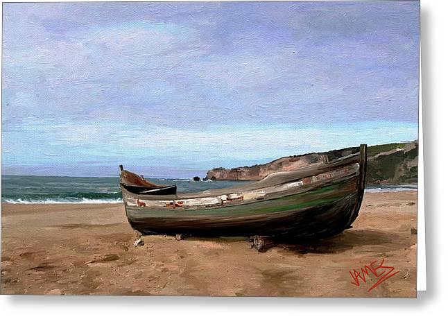Sardine Boat Greeting Card by James Shepherd