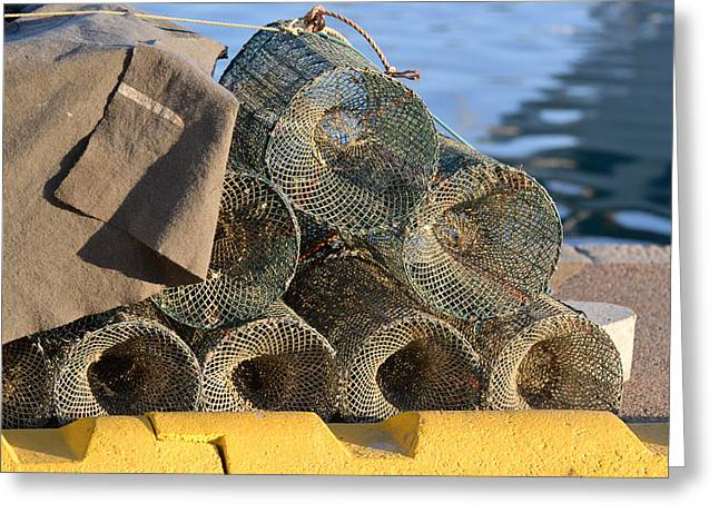 Bill Mock Greeting Cards - Sardinian Crab Traps Greeting Card by Bill Mock