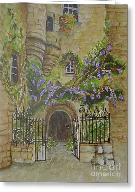 Languedoc Paintings Greeting Cards - Sarlat Greeting Card by Sobeida Salomon