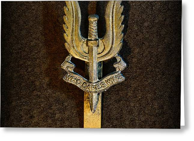 SAS - Special Air Service - Who Dares Wins Greeting Card by Paul Ward