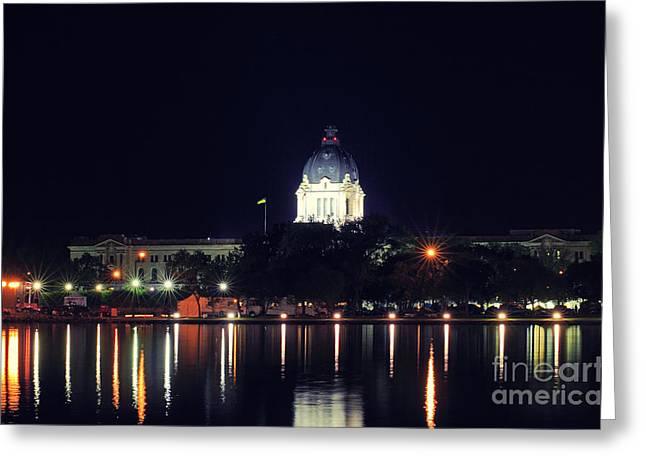Saskatchewan Photographs Greeting Cards - Saskatchewan Legislative Building Greeting Card by Charline Xia