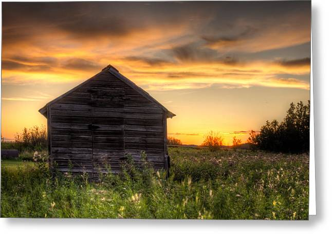 Saskatchewan Sunset Greeting Card by Matt Dobson