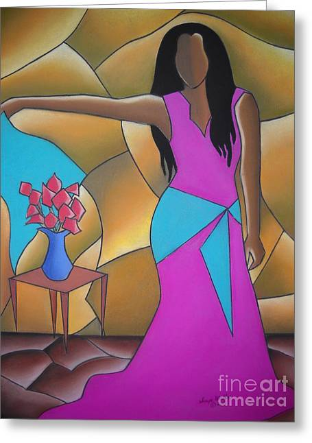African-american Pastels Greeting Cards - Sassy II Greeting Card by Sonya Walker