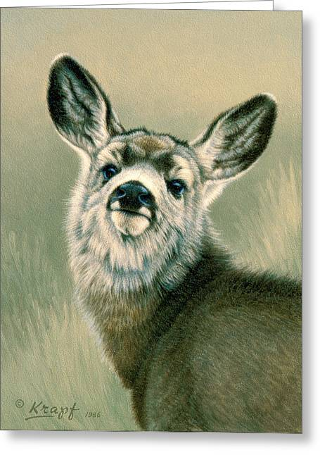 Fawn Greeting Cards - Sassy Look Greeting Card by Paul Krapf