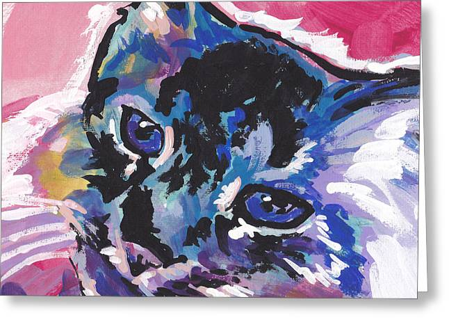 Tabby Greeting Cards - Sassy Tabby Greeting Card by Lea
