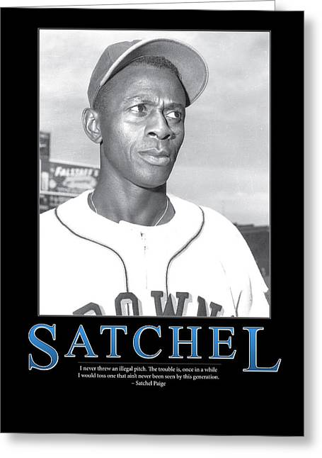 Old Pitcher Photographs Greeting Cards - Satchel Paige Greeting Card by Retro Images Archive