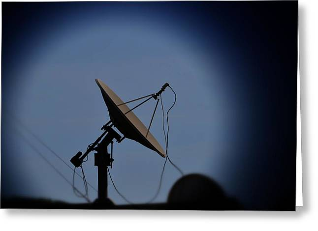 1980s Greeting Cards - Satellite Dish Greeting Card by Marco Oliveira