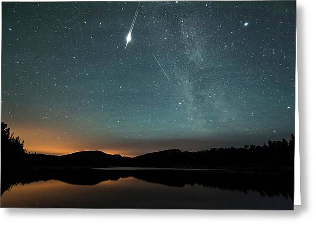 Satellite Flare Greeting Card by Tommy Eliassen