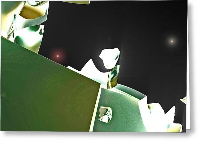 Satellite View Greeting Card by First Star Art