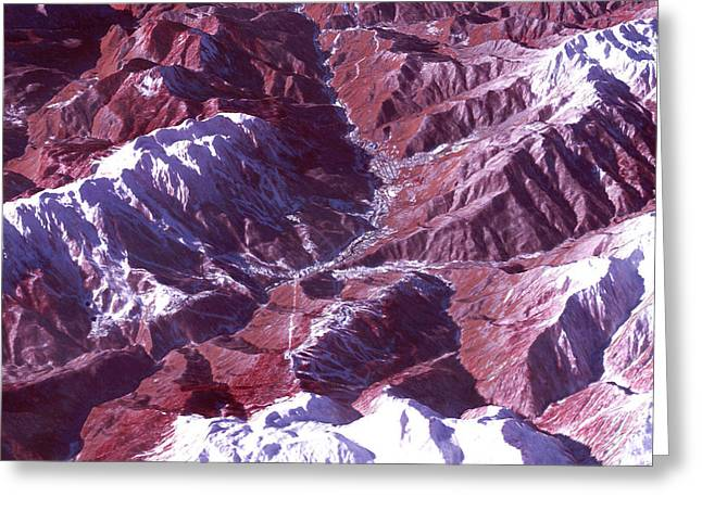 Satellite View Of Sochi Winter Olympics Greeting Card by Science Source