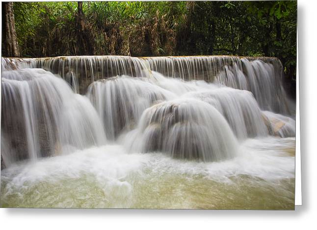 Satin Falls Greeting Card by Kim Andelkovic
