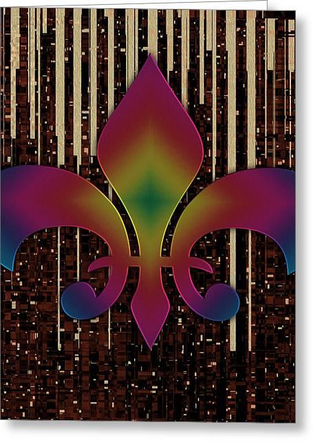 Satin Lily Symbol Digital Painting Greeting Card by Georgeta Blanaru