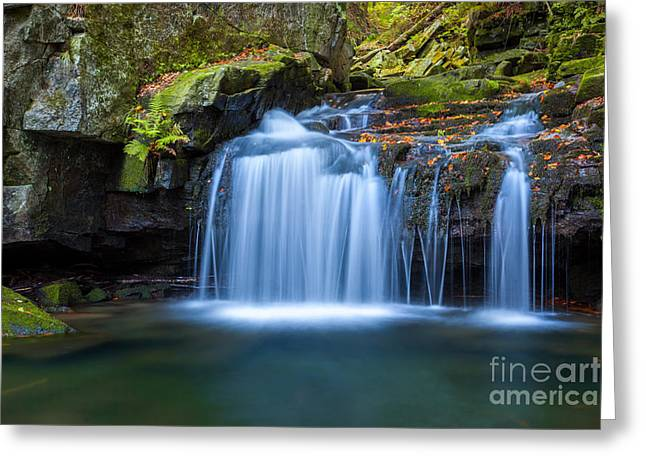 Vale Greeting Cards - Satina Waterfall II Greeting Card by Katka Pruskova