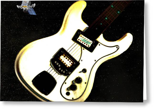 Rock And Roll Heaven Greeting Cards - Sattelite  Greeting Card by Bill Cannon